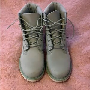 TIMBERLAND Women's Mint Green Leather Boot